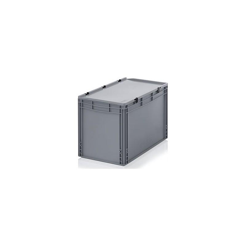 transportbox mit deckel 80x60x33 5 grau hkd systems. Black Bedroom Furniture Sets. Home Design Ideas
