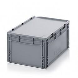 Transportbox mit Deckel 60x40x28,5-grau