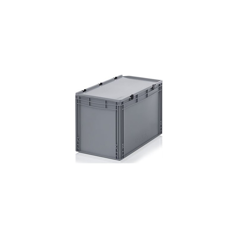 transportbox mit deckel 60x40x43 5 grau hkd systems. Black Bedroom Furniture Sets. Home Design Ideas