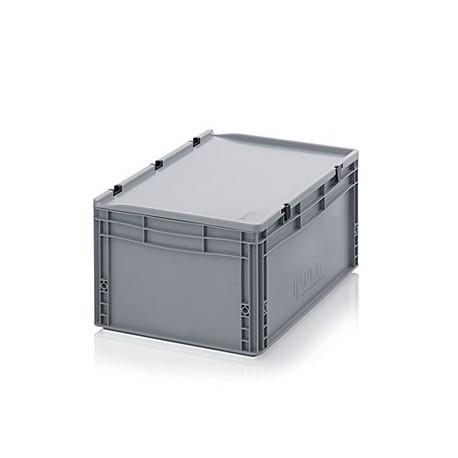 Transportbox mit Deckel 40x30x28,5-grau