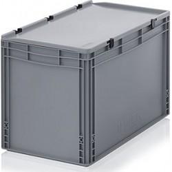 Transportbox mit Deckel 60x40x43,5 - grau