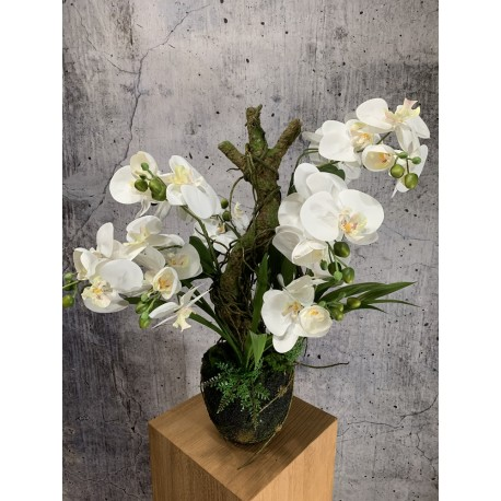 Orchidee weiss 75cm